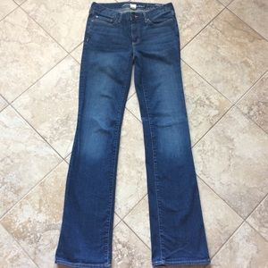 Eddie Bauer size 6 LONG jeans boot cut slimming